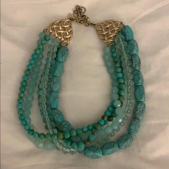 Banana Republic Jewelry - Banana republic chunky blue short necklace